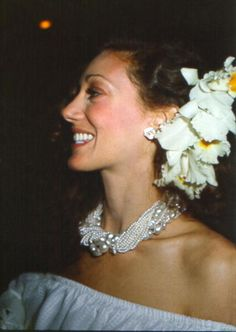 Marisa Berenson, the blushing bride. Wedding Credit: Michael Ochs Archives/Stringer.