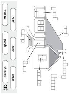 worksheet english house