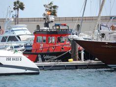 Een boot van de gobierno de canarias