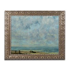 The Sea 1872 by Gustave Courbet Framed Painting Print