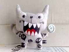 Woofy  The angel lollipop skull wolf by zeropumpkin on Etsy, $35.00