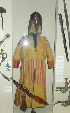 "Sudanese Mahdi army weapons and armor. From 1881-85 Muhammed Ahmed proclaimed himself the Mahdi and established what could be described as the first modern Islamist state in Sudan. His fanatical followers, nicknamed ""fuzzy-wuzzies"", held their own against the more advanced British, Egyptian and Ethiopian armies, and weren't defeated until 1898."