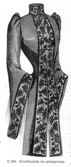 Spring wrap, El Salon de la Moda- 1890, Spain.