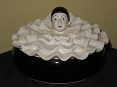 Taste Setter by Sigma Pierrot Art Deco Style Powder Keepsake Box