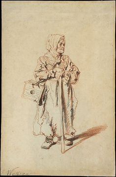 Standing Savoyarde with a Marmot Box Antoine Watteau (French, Valenciennes 1684–1721 Nogent-sur-Marne)