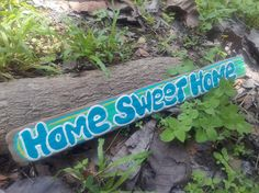 home sweet home sign hand painted wood sign driftwood sign