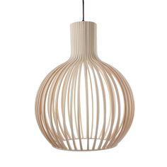 Gourd Drum Pendant | The Gourd Drum Pendant adds a seductive and natural touch to any room. Beautifully constructed from wood, it sheds cascading light over your surroundings, casting unique shadows that illuminate your sophisticated and simple style.