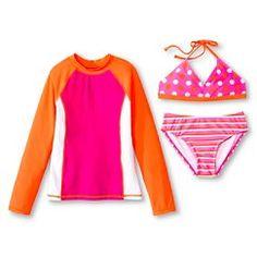 Girls' Rash Guard Sets Pink - Circo®