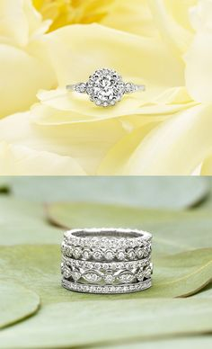 Stack these rings to make a one of a kind stunning design Dream Ring, Stacked Rings, Pretty Rings, Beautiful Rings, Friend Jewelry, Wedding Engagement, Wedding Bands, Engagement Rings, Stackable Bands