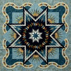 Glacier Star ~Quiltworx.com, made by Certified Instructor Beth Sidley