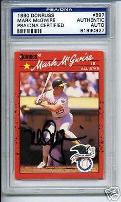 MARK-McGWIRE-SIGNED-AUTO-1990-DONRUSS-PSA-DNA-SLABBED #markmcgwire #mcgwire #signedcard #autograph #1990 #donruss