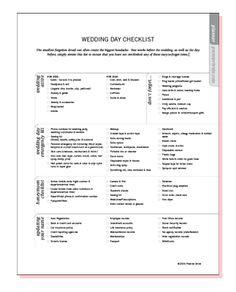 Rehearsal Notes & Wedding Day Agenda | Wedding Plans!! | Pinterest ...
