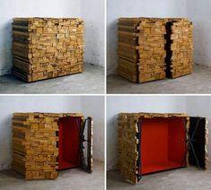 Woodpile hidden storage