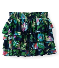 tropical tiered skirt (Aeropostale). The tieres, dark color, and busy pattern are all good characteristics for conceald carry. Wear with the UnderTech Compression shorts.