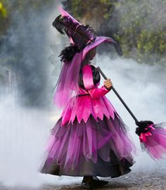 pretty pink witch girl costume - Chasing Fireflies