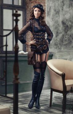I like the top. maybe pair it with pants or a longer skirt. I dislike the skimpy steampunk.