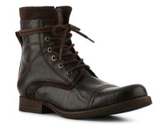 GBX Leather and Suede Boot