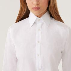 Tomboy Fashion, Fashion Outfits, Women Wearing Ties, High Collar Blouse, White Shirt Outfits, Women Bow Tie, Classic White Shirt, White Shirts Women, Office Fashion Women