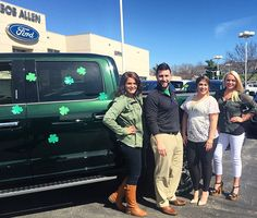 It's St. Patty's Day, so it's time to say Come get your truck, or you'll be out of luck If you have a pointy ear, the rainbows all end here  You'll find your pot of gold, and many trucks to behold  So come on by, cause we really try  We are never mean, and you will save a lot of green!!!   -Tim Smith (Sales Manager)    We would like to wish you all a Happy and safe St. Patrick's Day!!   #BobAllenFord #Ford #F150 #FourLeafedClover #StPattysDay #StPatricksDay #Green #Sales #SalesEvent…