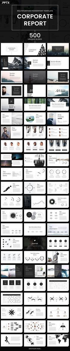 121 best business powerpoint templates images on pinterest in 2018 corporate report powerpoint template wajeb Choice Image