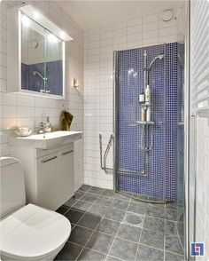 This one-room home has an especially clever bathroom feature to save space.