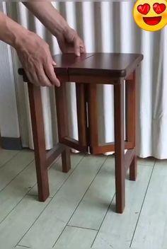 Folding Furniture, Diy Pallet Furniture, Space Saving Furniture, Home Decor Furniture, Furniture Projects, Wood Furniture, Furniture Design, Diy Wooden Projects, Woodworking Projects Diy