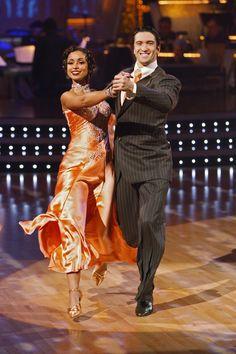 Mya and Dmitry Chaplin dancing quickstep.