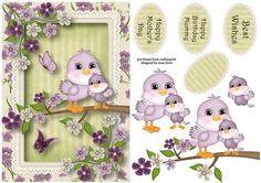 Baby Bird Mother s Day Mummy Birthday on Craftsuprint - Add To Basket!