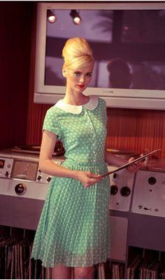 vintage polka dot dress <3