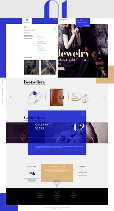 Stunning Jewelry Store Web Design by Michal Wierzbicki Ecommerce Web Design, Web Ui Design, Email Design, Page Design, Website Design Layout, Web Layout, Layout Design, Photoshop, Interface Web