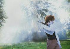 "Mylène Farmer in ""Libertine"". Photo by Eric Caro (1986)."