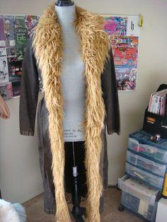 PsJ- Long Denim Jacket (Brown) Tan http://www.ebay.com/itm/151303376591?ssPageName=STRK:MESELX:IT&_trksid=p3984.m1558.l2649