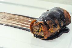 Saltimbocca alla romana com redução de cabernet sauvignon e caldo de carne | Saltimbocca alla romana with cabernet sauvignon reduction and meet broth