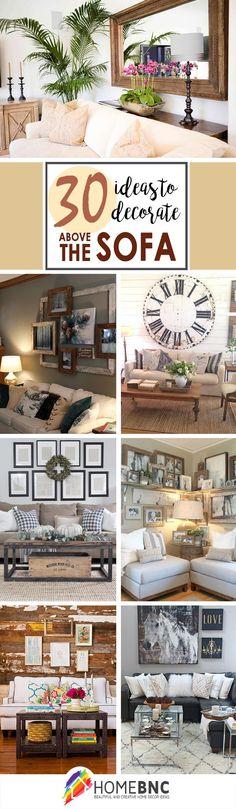 Decoration Ideas Above the Sofa