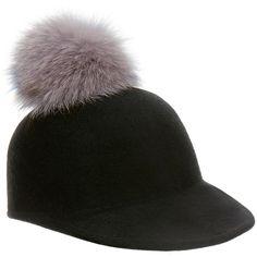 08227773a65ca Eugenia Kim Bo Black Fur Pom Pom Wool-Felt Cap (555 MYR) ❤