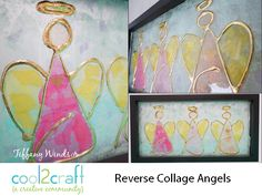 Reverse Collage Tissue Painting Angels by Tiffany Windsor