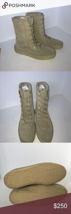 141413c3e Shop Men s Yeezy Tan size 8 Boots at a discounted price at Poshmark.  Description  Brand new Yeezy Season 2 men s crepe boot size 41 Euro