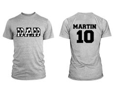 Soccer Dad Men Custom TShirt With Personalized by Beecustominc, $24.99