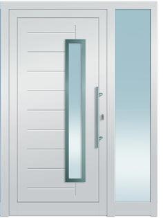 Modell Castor 2 Aluminium-Eingangstüre in weiß mit Seitenteil - Außenansicht! Sternstunden-Türen erhätlich bei Fenster-Schmidinger aus Gramastetten in Oberösterreich! #doors #türen #alutüren #sternstunden