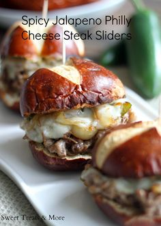 Spicy Jalapeno Philly Cheese Steak Sliders