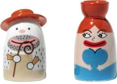 Alessi Amgi10Set2 Statuette HandDecorated Figurine Set of 2 * Find out more about the great product at the image link. #XmasCollectibleFigurines