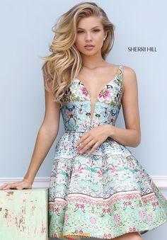 Sherri Hill Short Print Dress 50781
