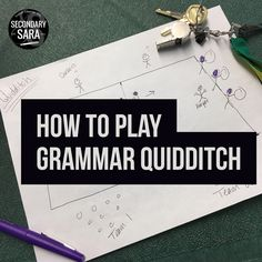 How to Play Grammar Quidditch (Secondary Sara) Grammar Activities, Teaching Grammar, Grammar Lessons, Teaching Writing, Teaching English, Teaching Ideas, How To Teach Grammar, Writing Games, Grammar Games