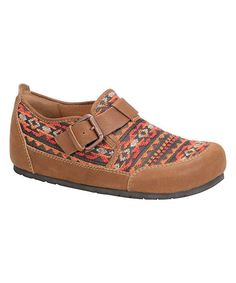 Bailee Red & Tenor Brown Annapurn Clog | zulily
