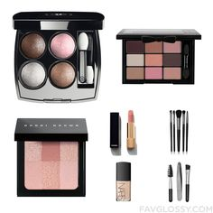 Cosmetics Collage Including Chanel Eye Makeup, Palette Eyeshadow, Bobbi Brown Cosmetics Blush And Chanel From September 2016...