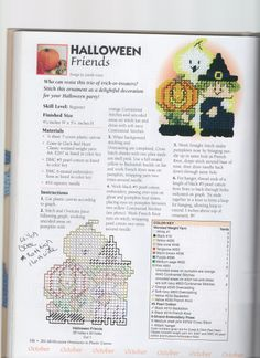 HALLOWEEN FRIENDS by JANELLE GIESE **FROM 201 ALL-OCCASION ORNAMENTS IN PLASTIC CANVAS**