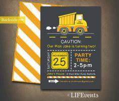 Construction party invitation