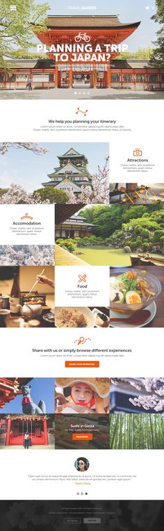 Japan Travel Website Check more at entwurf.homedecor… Japan Travel Website Check more at entwurf. Layout Design, Design Sites, Interaktives Design, Web Layout, Graphic Design, Travel Website Design, Travel Design, Website Design Inspiration, Layout Inspiration