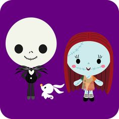 Here's a chibi version of Disney / Pixar Nightmare Before Christmas.       CLICK HERE TO DOWNLOAD     **FOR PERSONAL USE ONLY**     *Fan ar...