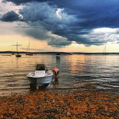 Stormy #summer day in #Maine.  #mothernature #boating #penobscotbay #imagery